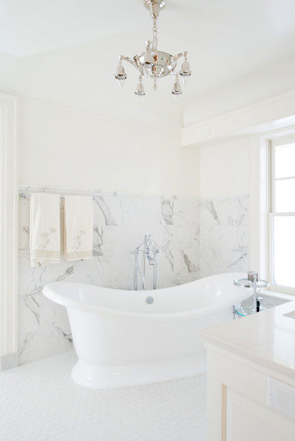 Marble Master Bath Retreat traditional-bathroom