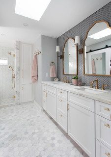 Marble Master Bathroom In San Diego Transitional