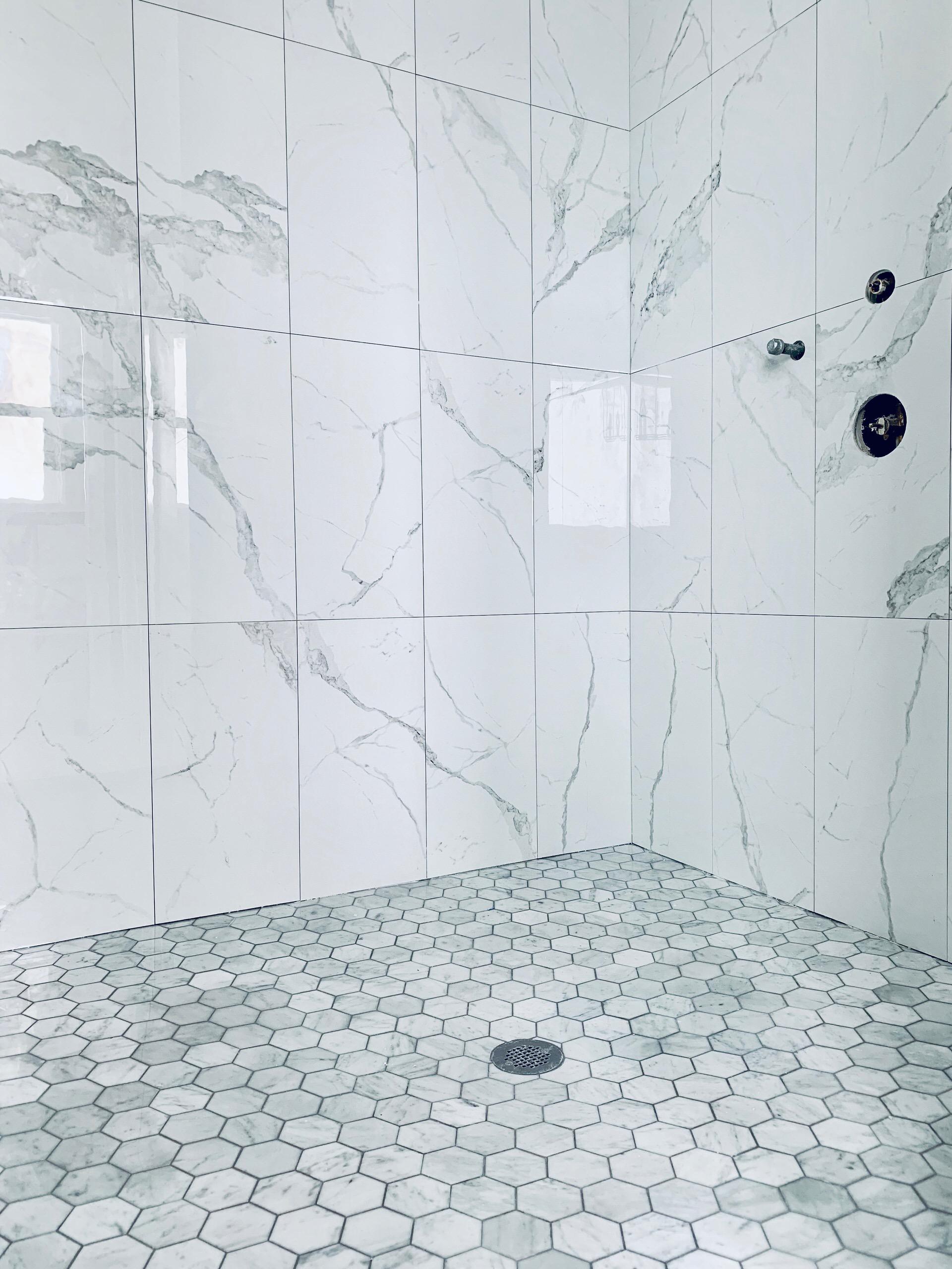 Marble Master Bathroom Shower