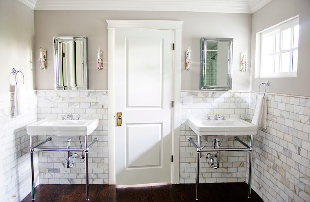 MARBLE MASTER BATHROOM Traditional Bathroom Salt Lake City By White