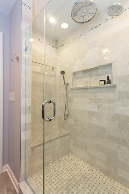 Marble Master Shower Bench Seat Chatham Township NJ Transitional