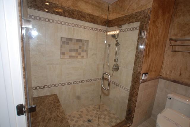modern shower remodel.  Shower Marble Shower And Soaking Tub U0026 Glazed Walls Top Bidet Seat Modern Bathroom In Modern Remodel