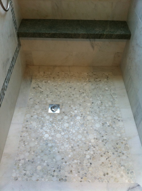 What Is This Flooring Material, It Looks Like Smooth Pebbles. I Hate The  Pebble Shower Floor But This Looks Like It Would Be Smooth To The Touch And  S.
