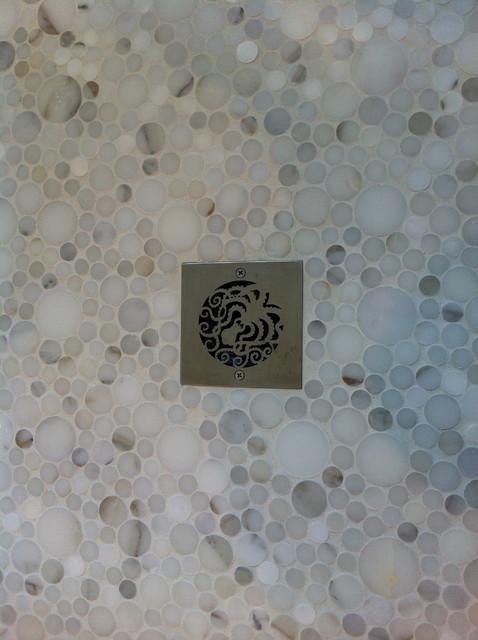 Marble Shower Floor contemporary-bathroom