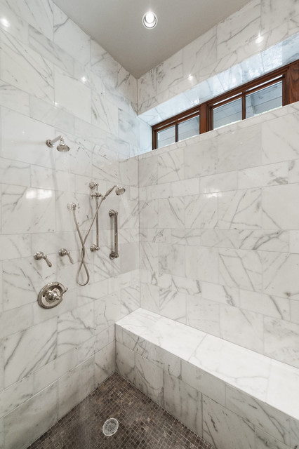 Marble Shower Modern Bathroom Austin By Schroeder