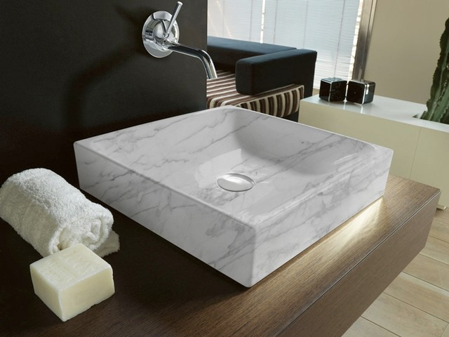 Marble Sinks contemporary-bathroom