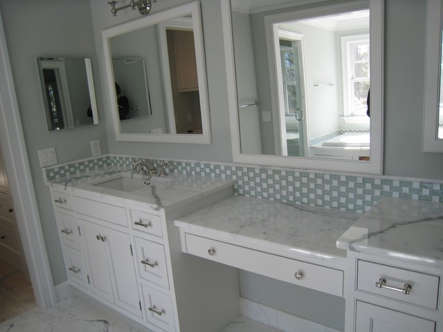 marble vanity countertop traditional bathroom - Tile Bathroom Countertop