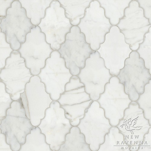 Marble Waterjet Pattern contemporary-bathroom