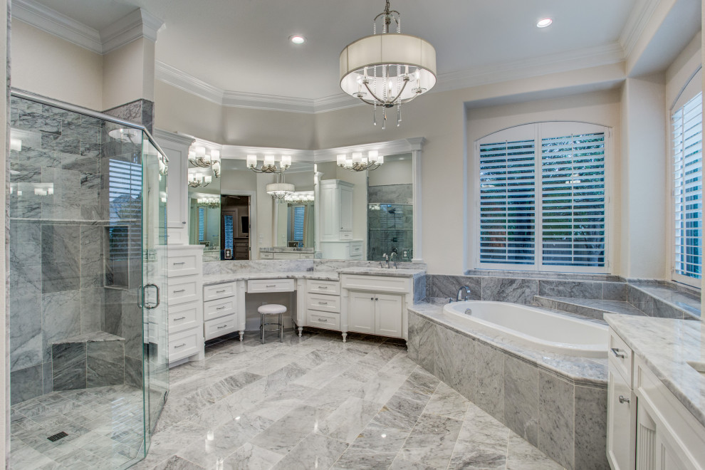 Marbled Master Bath