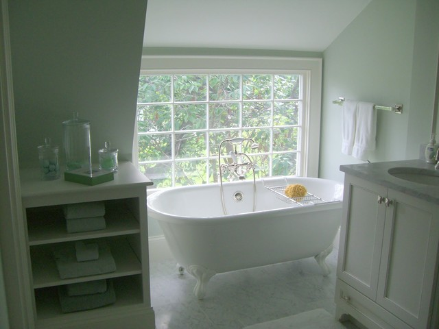 Design ideas for a coastal bathroom in Boston.