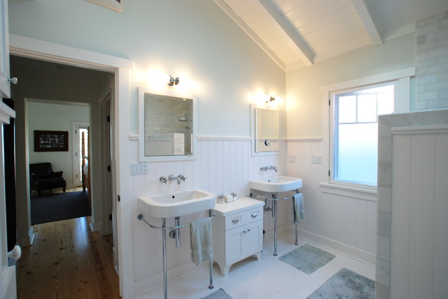 Marco - Modern Beach Craftsman, Seal Beach CA tropical-bathroom