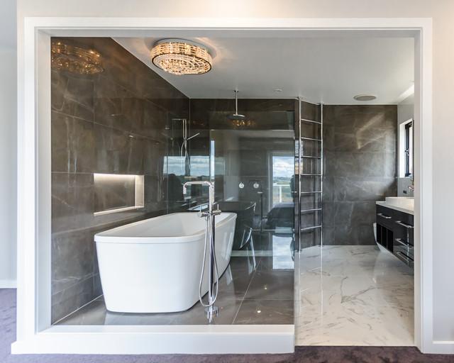 Maribyrnong ensuite modern bathroom melbourne by for Space saving ensuite bathroom ideas