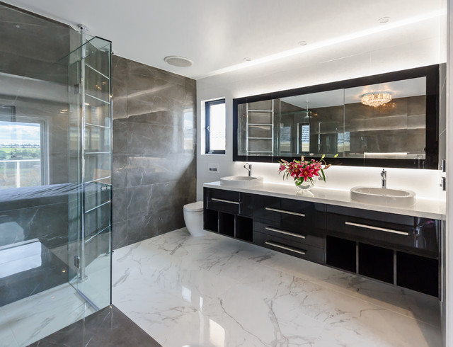 Maribyrnong ensuite modern bathroom melbourne by for Modern ensuite ideas