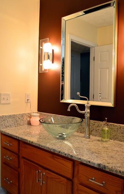 Marietta ga 2 guest bathrooms revamped contemporary for Bathroom remodel 30068
