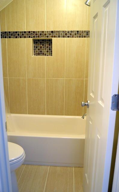 Marietta ga 2 guest bathrooms revamped contemporary bathroom atlanta by johnny rhino Bathroom cabinets marietta ga