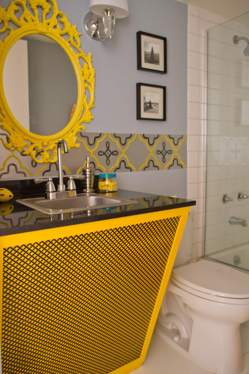 contemporary bathroom Color of the Month: Decorating with Yellow