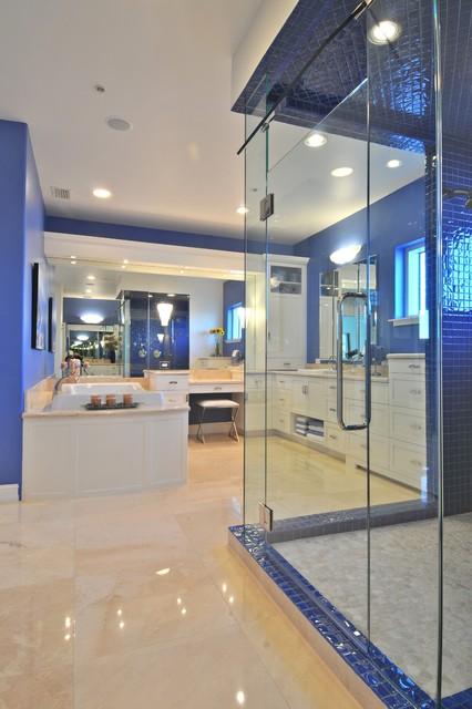 Marina Tower Penthouse contemporary-bathroom