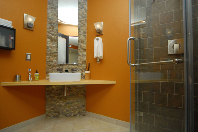 Marion Basement Addition contemporary bathroom