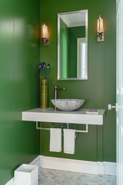 Marquit Fine Art + Design - Interiors of Condo in Brookline, MA contemporary-bathroom