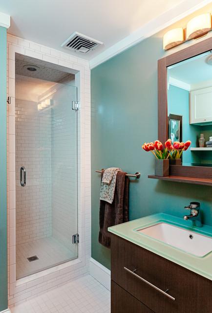 Marquit Fine Art Design Interiors Of Condo In Brookline Ma Transitional Bathroom Boston