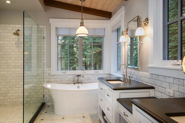 martis camp 75 montagne salle de bain san francisco par structerra inc. Black Bedroom Furniture Sets. Home Design Ideas