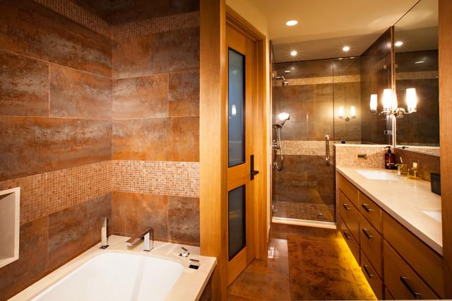 Martis Camp Estate Truckee contemporary-bathroom