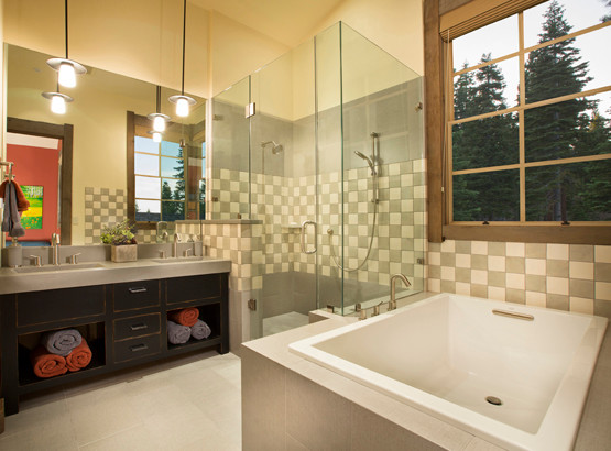 Martis Camp, Multiple Projects contemporary-bathroom