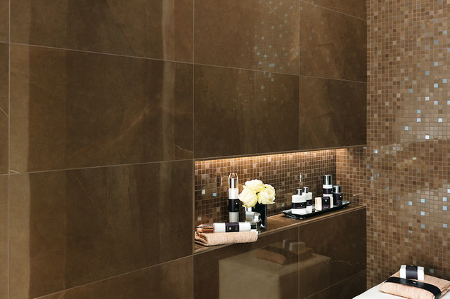 Marvel Premium Italian Marble Look Porcelain Tiles Contemporary Bathroom Auckland By