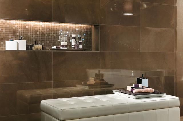 Exceptional Marvel   Premium Italian Marble Look Porcelain Tiles Contemporary Bathroom