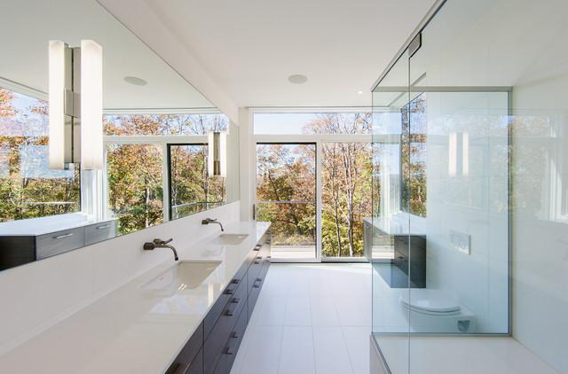 Marvin Sliding Patio Door Contemporary Bathroom