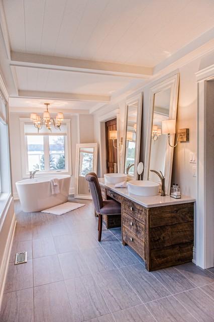 Mary lake cottage contemporary bathroom other metro for Lake cottage bathroom ideas