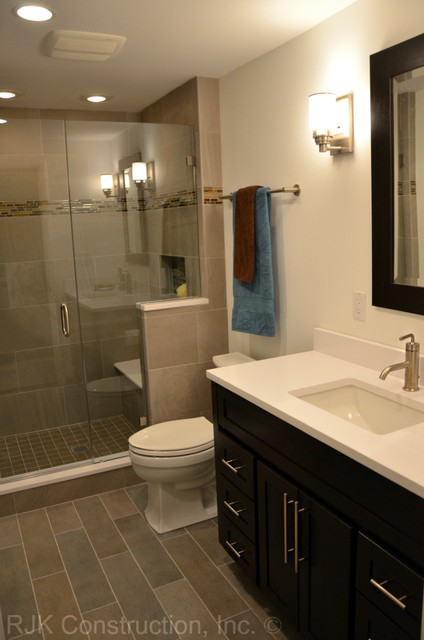 Masculine Bathroom Renovation - Contemporary - Bathroom - DC Metro - by RJK Construction Inc