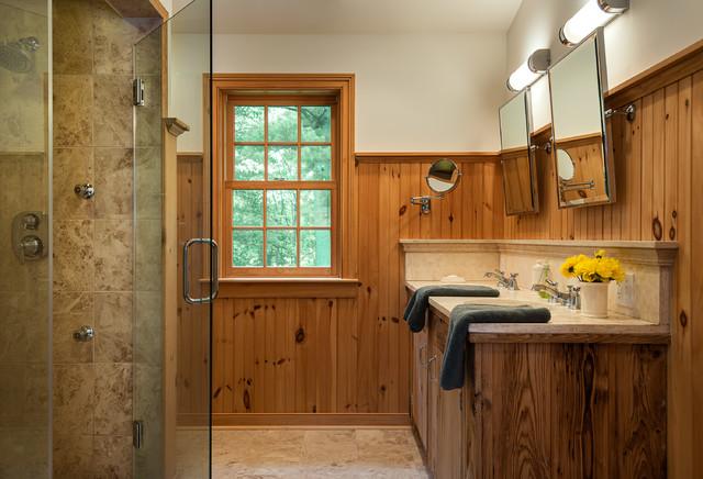 Massachusetts Farm House Farmhouse Bathroom
