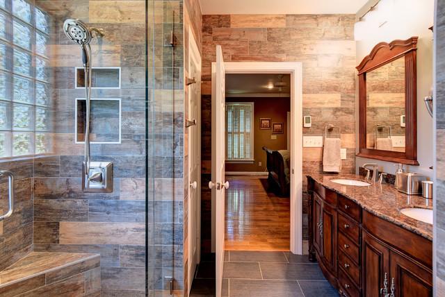 Rustic Bathroom master & guest bathroom makeoverswood- - rustic - bathroom - other