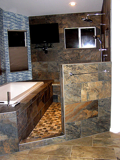 Master Bath After Remodel Wet Room Area Contemporary Bathroom Phoenix