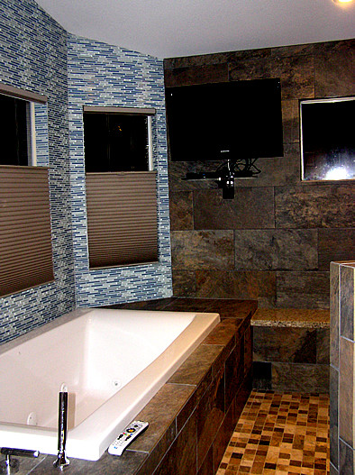 Master bath after remodel wet room area contemporary for Bathroom remodelers in my area