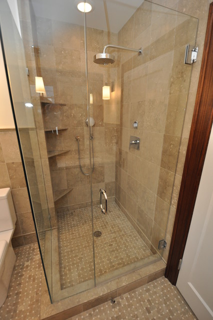 Master bath and kids bath traditional-bathroom