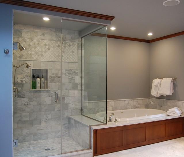 Master Bath And Shower Traditional Bathroom Portland