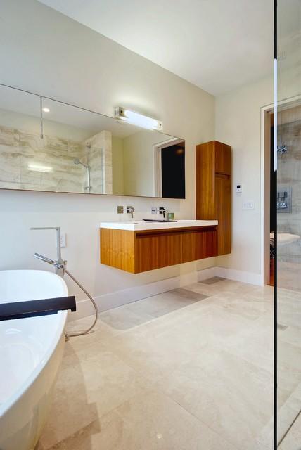 Master bath modern bathroom toronto by andrew snow photography - Bathroom design toronto ...