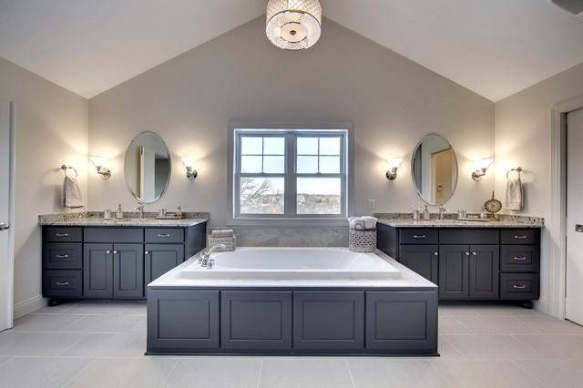 Master Bath - Audubon Model - 2014 Spring Parade of Homes transitional-bathroom