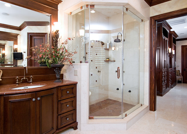 Elegant Traditional Bathroom Idea In Other With An Undermount Sink