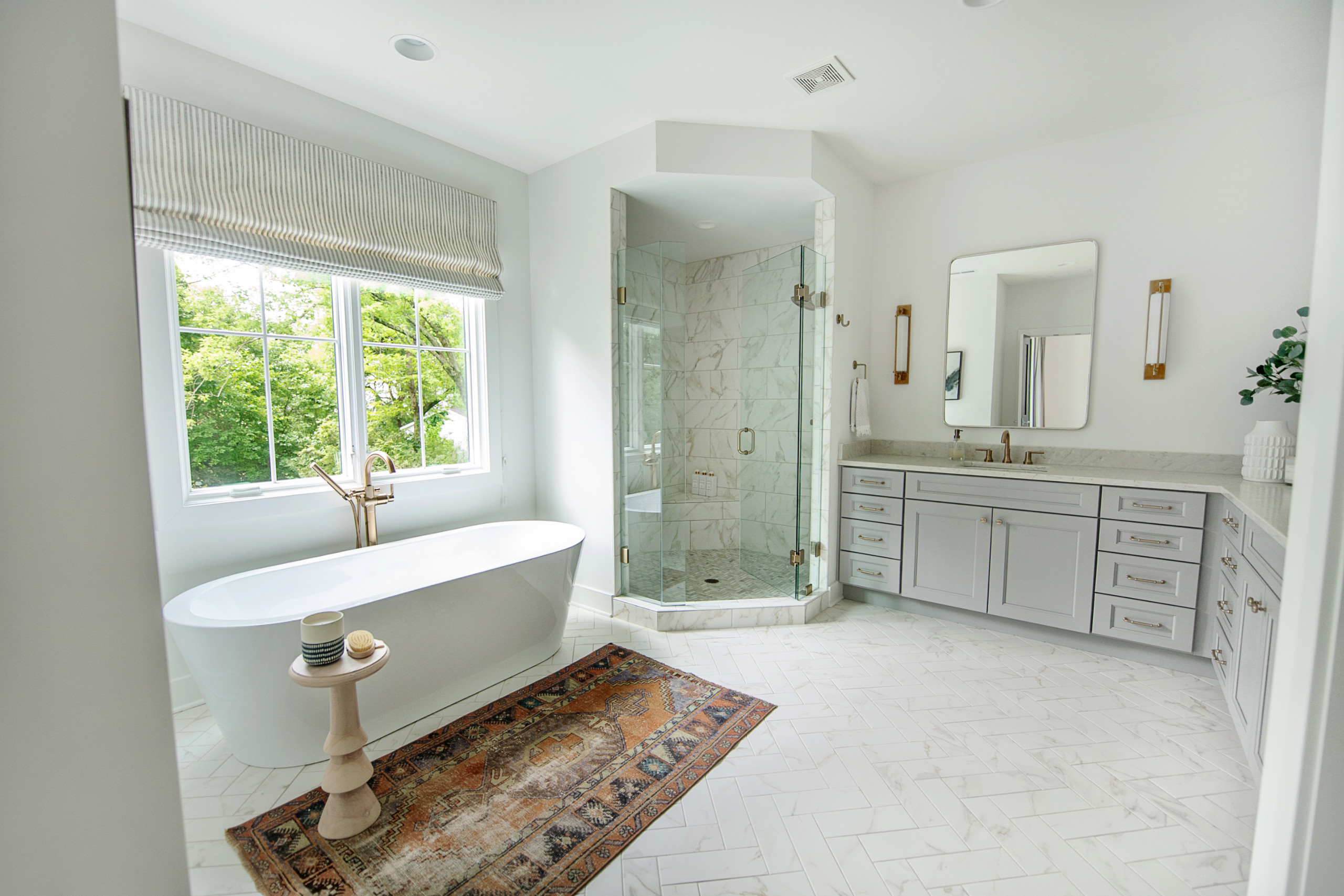 Master Bath Transitional Bathroom, Bathroom Tile Cincinnati