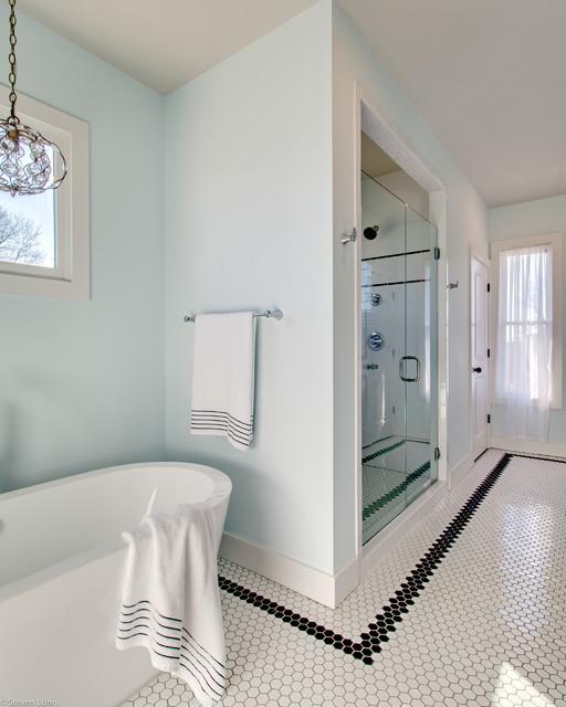 Houzz Com Bathroom: Black And White Theme