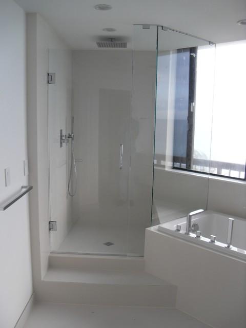 Master Bath Boca modern-bathroom