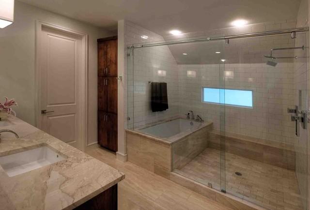 Inredning av ett modernt badrum