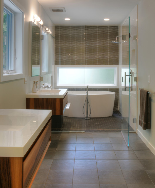 Master bath modern bathroom bridgeport by ck for Wet area bathroom ideas