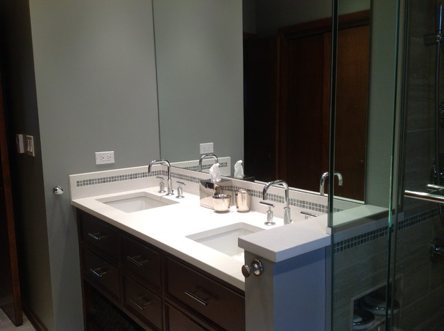 Master bath cosmetic redesign and rehabilition for Redesigning a bathroom