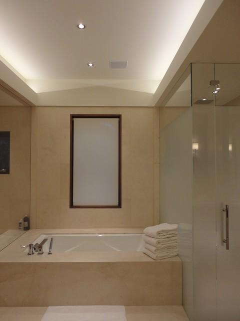 Master Bath Cove Lighting Contemporary Bathroom