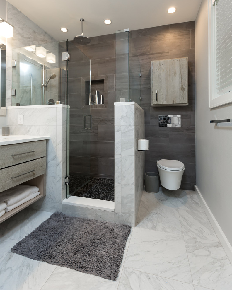 Master Bath Design Remodel Modern Bathroom Other By Omega Construction And Design Inc