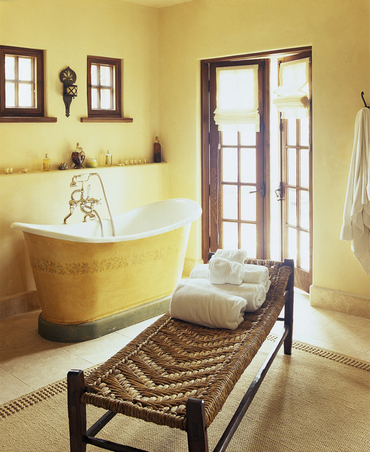 master bath mediterranean bathroom